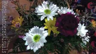 Projection Mapped Birthday Flowers
