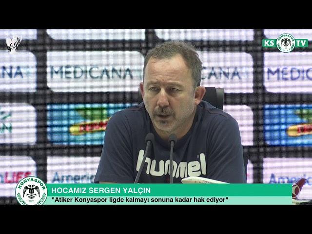 Hocamız Sergen Yalçın'ın Göztepe maçı sonrası açıklamaları