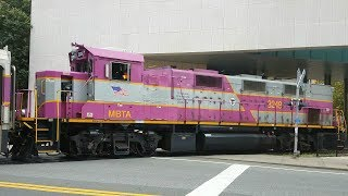 Railfanning Boston with MBTA Extras, Amtrak Heritage Units & More!