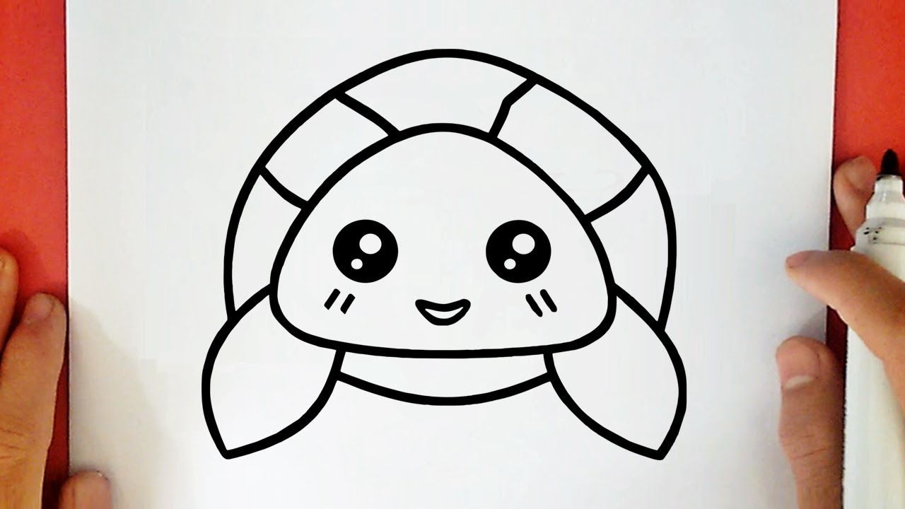 COMMENT DESSINER UNE TORTUE KAWAII - YouTube