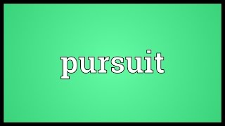 Pursuit Meaning