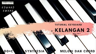 KELANGAN 2 WANDRA Tutorial Keyboard Melodi dan Akor Do=C