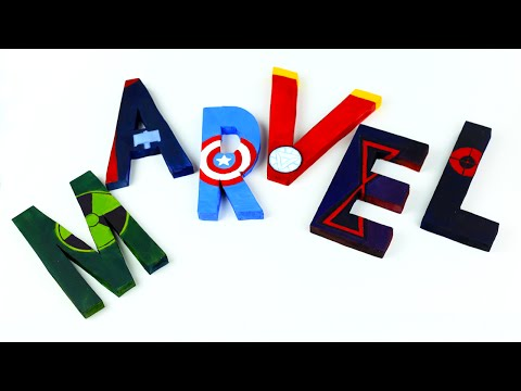 DIY Avengers Room Decor - 3D Letters
