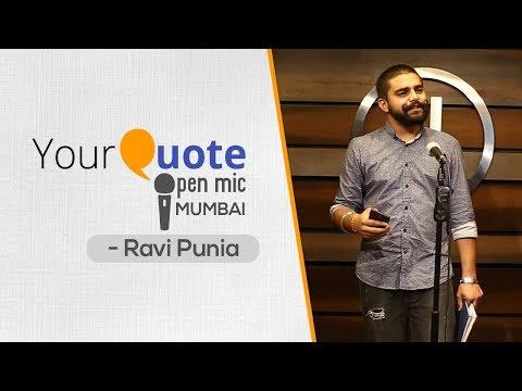 'Zindagi' & 'Khwaab' by Ravi 'Chand' Punia   Hindi Poetry   YQ - Mumbai (Open Mic 4)