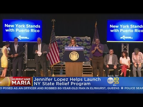 J. Lo Joins Cuomo For Hurricane Relief