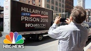 It's Just A Job: Anti-Hillary Clinton Truck Driver Winds Through Cleveland | NBC News