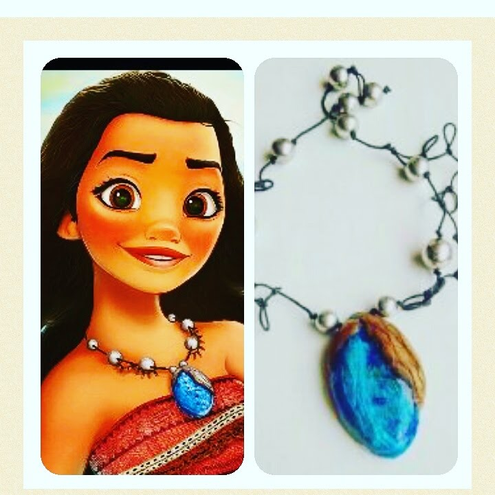 tuto fimo collier de vaiana disney diy moana heart necklace youtube. Black Bedroom Furniture Sets. Home Design Ideas