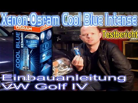 xenon osram cool blue intense mein testbericht einbauanleitung vw golf 4 youtube. Black Bedroom Furniture Sets. Home Design Ideas