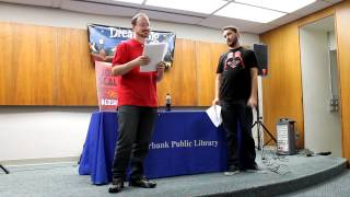 "John Scalzi '87 and Wil Wheaton perform a ""Redshirts"" Reading"