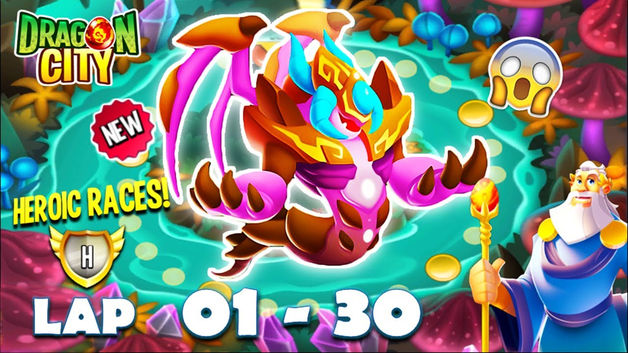 Download Dragon City: High Cavernous Dragon | Heroic Race LAP 1 - 30 COMPLETED 😱