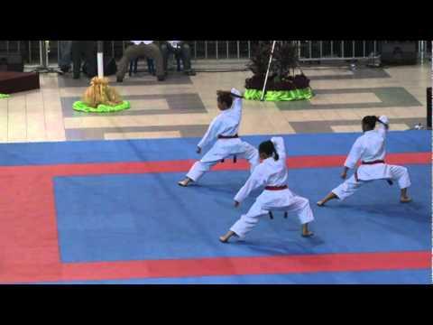 2011 WKF 7th Junior Championship Female Junior/Cadet Team Kata USA Round 2.mpg