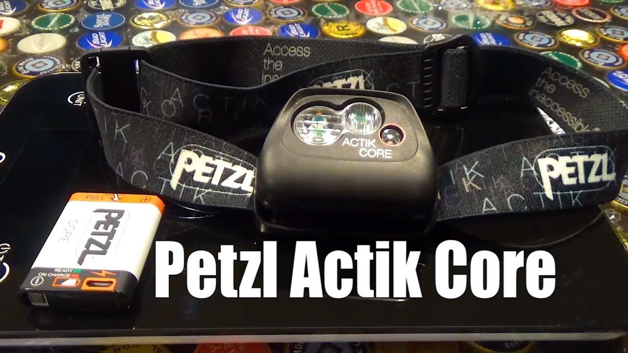 Petzl Hybrid Concept actik Core 450 LM DEL rechargeable headtorch-Noir