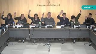 Ajuntament de Calafell: Sessió plenària ordinària, 12 de març de 2020