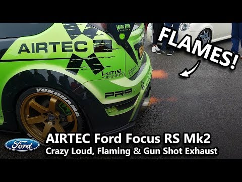 670+ BHP Ford Focus MK2 RS Crazy Loud Popping & Flaming Exhaust Sound