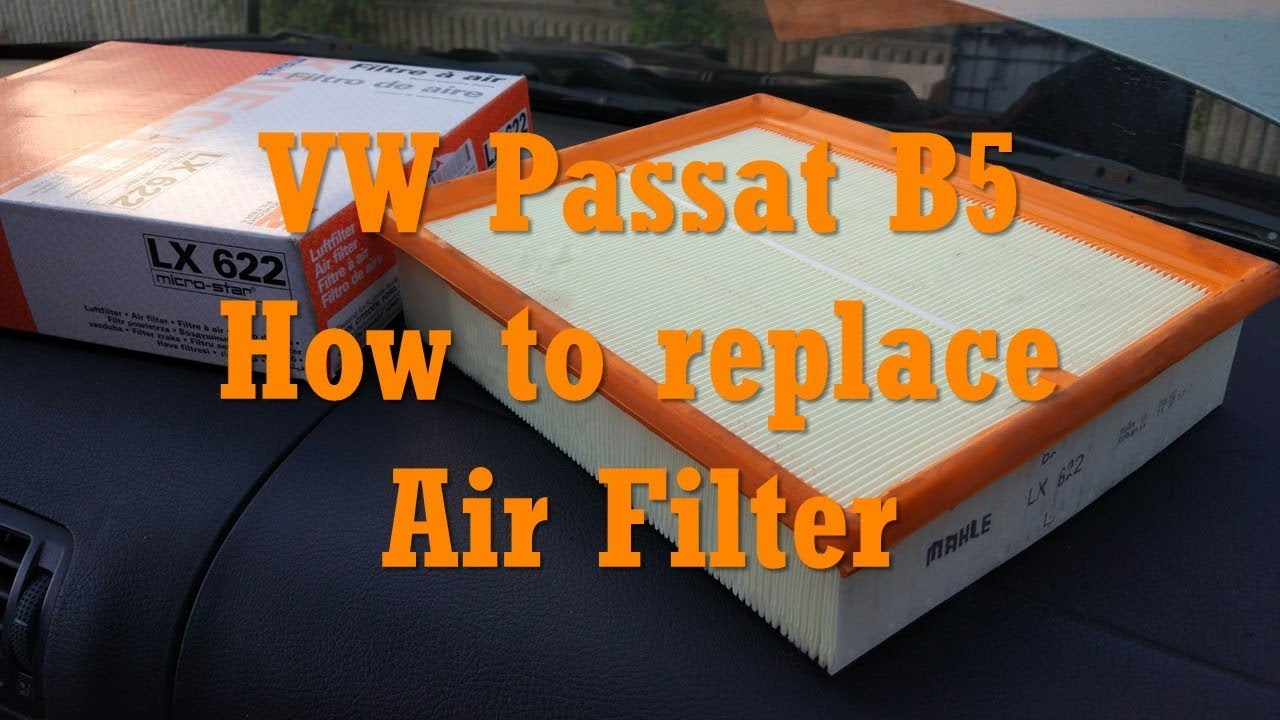 vw passat b5 1 9 tdi how to replace air filter air filter replacement change air filter 058133843 [ 1280 x 720 Pixel ]