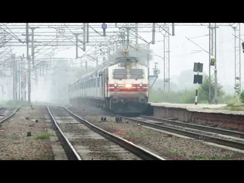 200Kmph capable Aerodynamic WAP5 full speed with 12002 Bhopal Shatabdi Express
