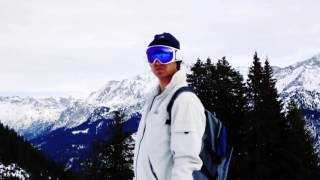 RideOn - ski goggles with the feature of virtual reality. Sports technology.