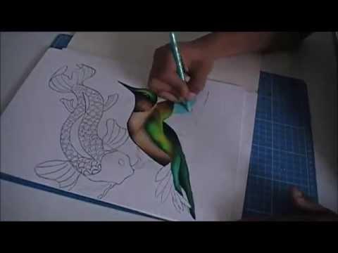 Dibujando un colibr usando colores de madera solamente - Colores para colorear ...