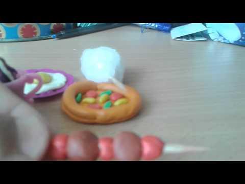 Моя еда для кукол из пластилина (бургеры)