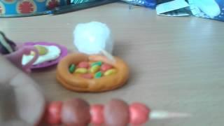 Самодельная еда для кукол из пластилина