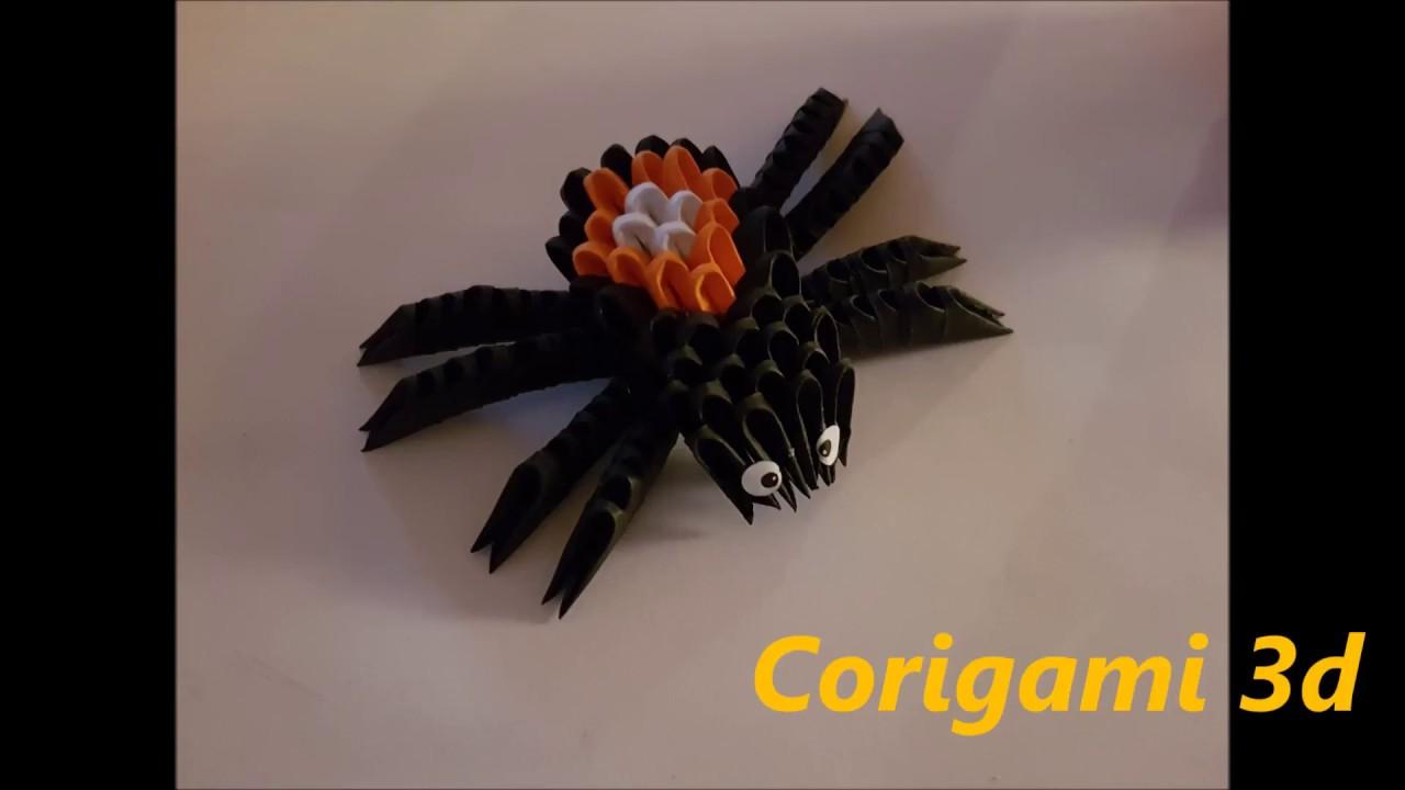 araignée,spider origami 3d - youtube