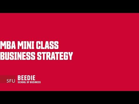 MBA Mini Class on Business Strategy