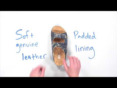 Video for Cozy Slide Sandal this will open in a new window