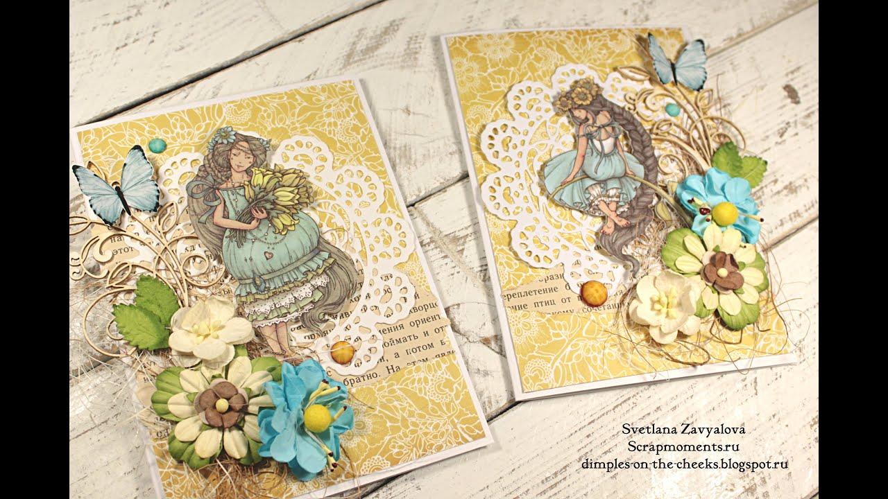 Винтажные открытки с 8 марта своими руками