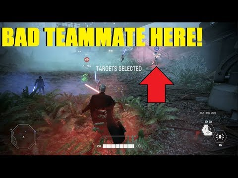 Star Wars Battlefront 2 - WE LOST BECAUSE OF THE WORST TEAMMATE IN HISTORY! Count Dooku Carry! thumbnail