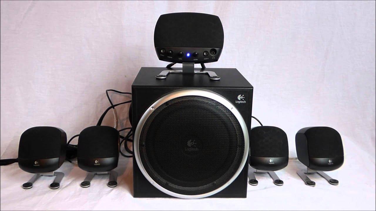 logitech z 640 5 1 surround sound system youtube. Black Bedroom Furniture Sets. Home Design Ideas