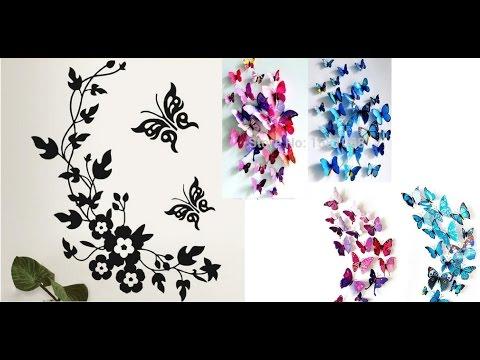 Посылка с Китая, AliExpress! 3D бабочки декор для дома, стикеры наклейки украшения дома!