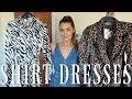 SHIRT DRESSES mango asos topshop zara haul