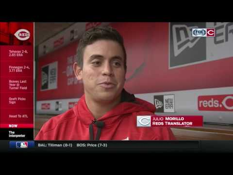Morillo says being Reds translator has helped achieve his
