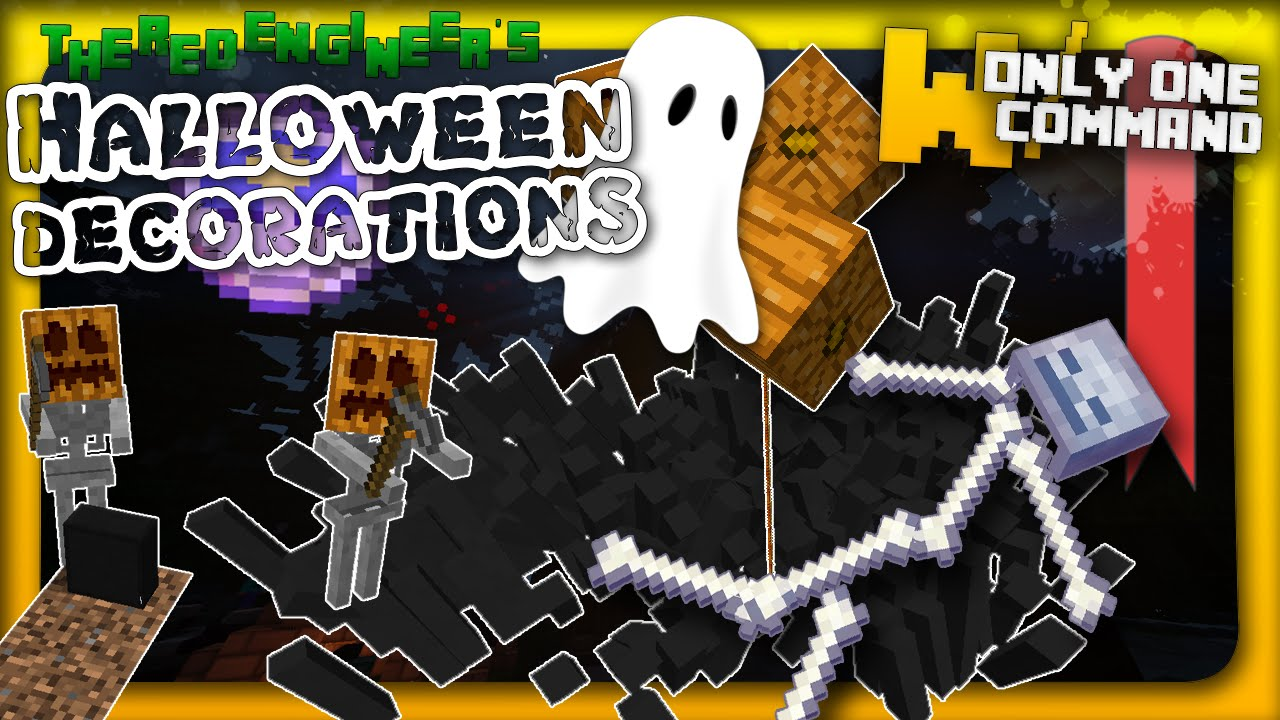 minecraft spooky halloween decorations in two commands youtube