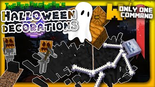Minecraft - Spooky Halloween decorations in two commands