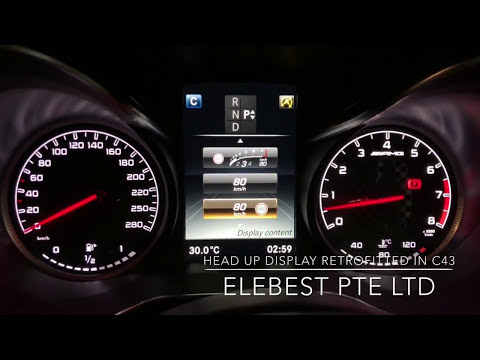 Head Up Display Retrofitted in C43
