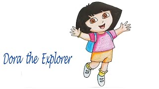 How to draw  Dora the Explorer  step by step