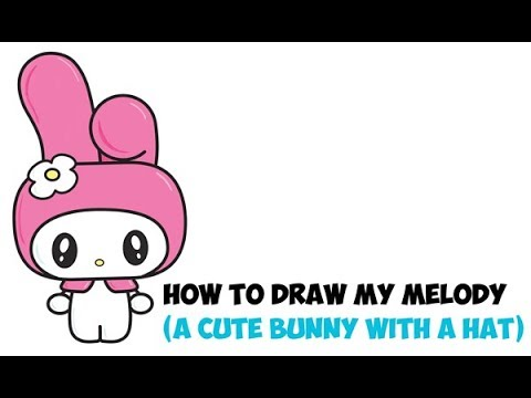 How to draw my melody from hello kitty kawaii chibi bunny with how to draw my melody from hello kitty kawaii chibi bunny with hood easy drawing for kids ccuart Gallery