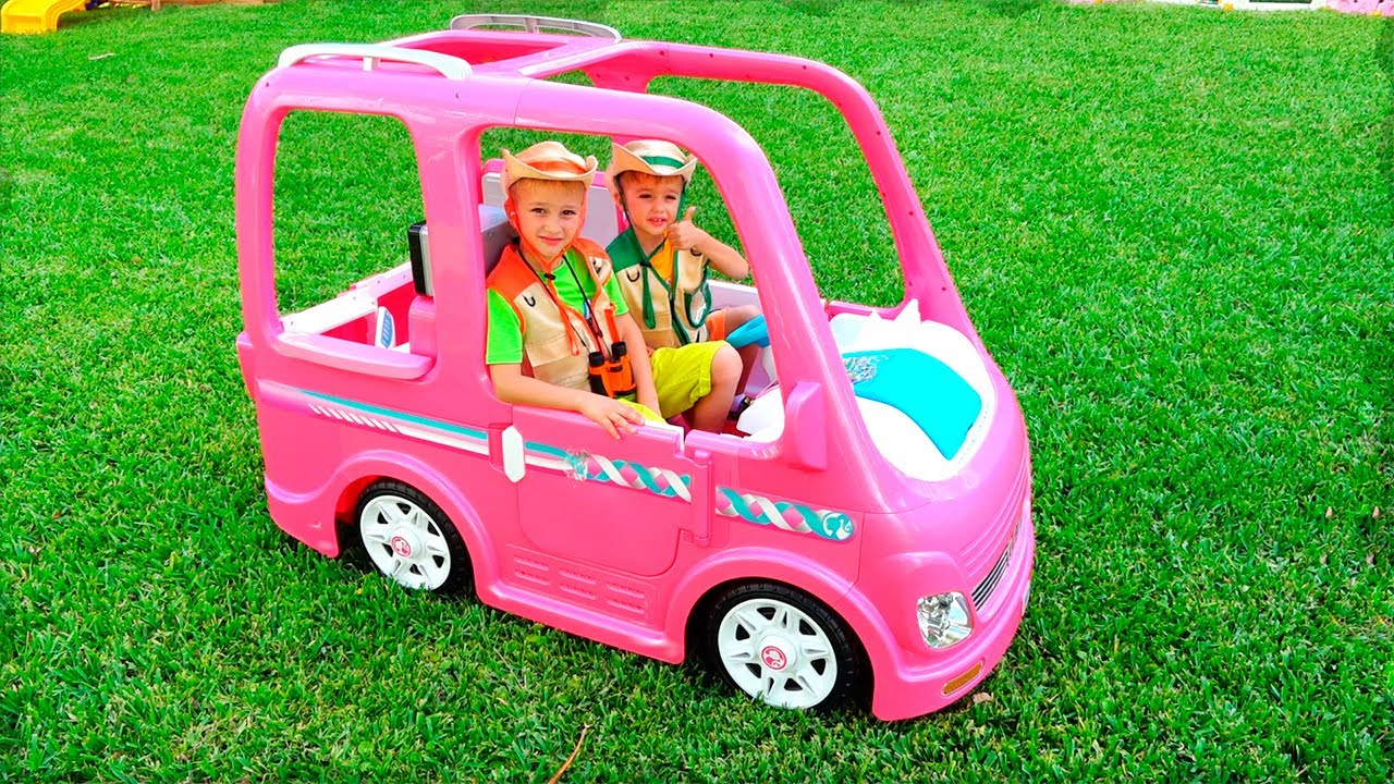 Vlad And Nikita Ride On Doll Car And Have New Adventures Youtube