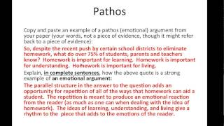 Ethos, Pathos, and Logos in a Research Paper
