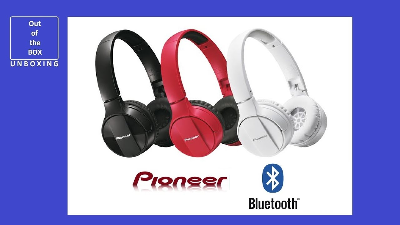 pioneer bluetooth headphones. pioneer se-mj553bt bluetooth on-ear headphones unboxing (se-mj553bt-w se-mj553bt-r se-mj553bt-k) pioneer