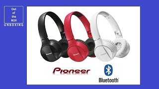 PIONEER SE-MJ553BT Bluetooth On-ear headphones UNBOXING (SE-MJ553BT-W SE-MJ553BT-R SE-MJ553BT-K)