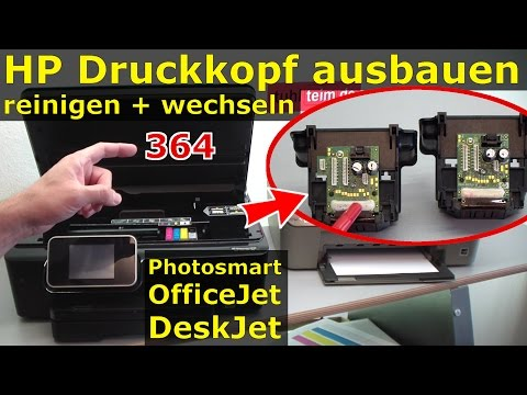 hp-druckkopf-364-ausbauen-reinigen-wechseln- -364-patronen-bei-photosmart-officejet-deskjet