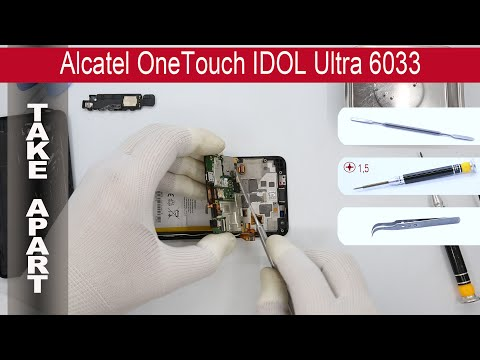 How to disassemble 📱 Alcatel One Touch Idol Ultra 6033, Take Apart, Tutorial