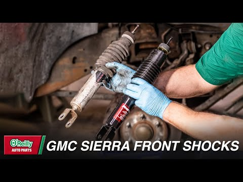 How To: Change Front Shocks on a 1999 to 2007 GMC  Sierra (Chevy Silverado)