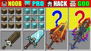 Minecraft NOOB vs PRO vs HACKER vs GOD ABILITY GIANT SWORD CRAFTING CHALLENGE in Minecraft Animation