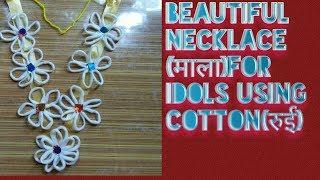 Make awesome Ganesha' necklace (mala)with cotton