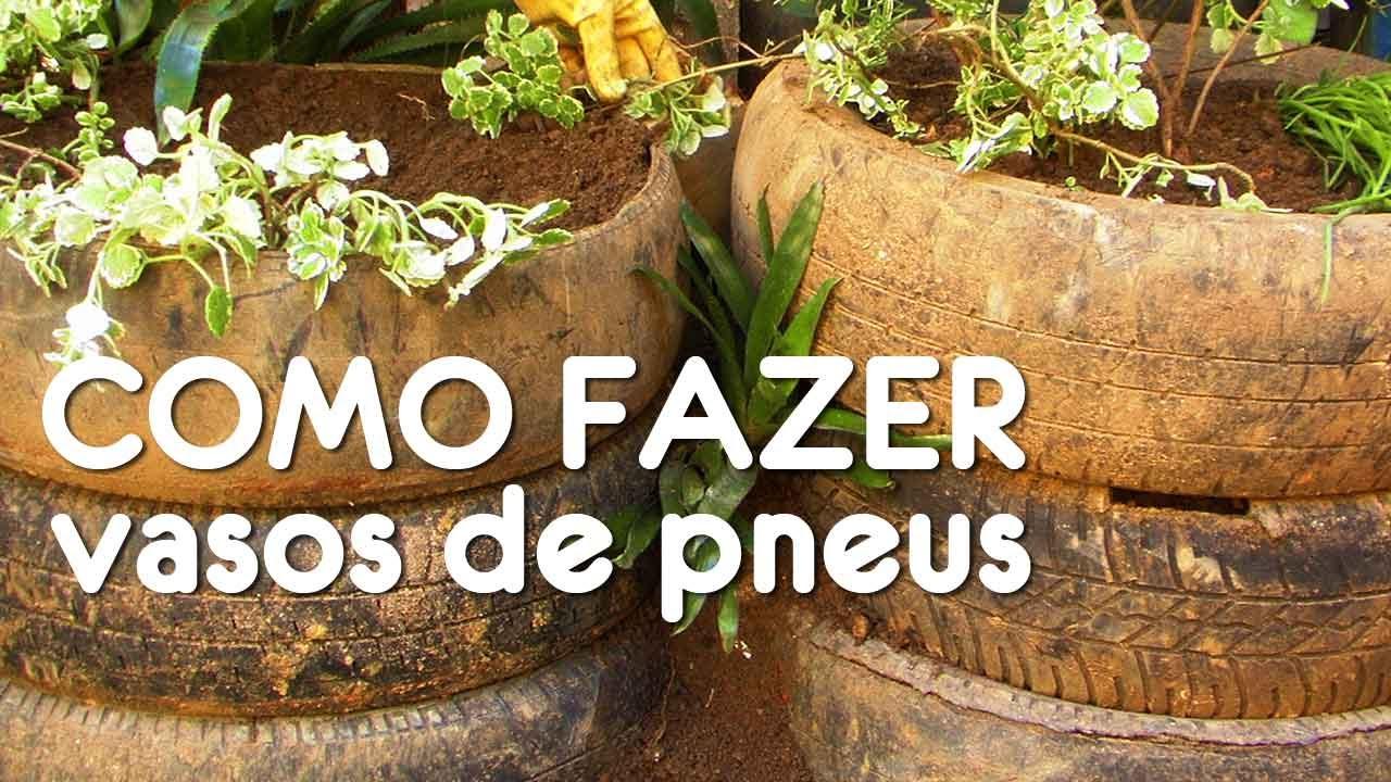 Como fazer vasos de plantas com pneus minutos extras for Como criar caracoles de jardin