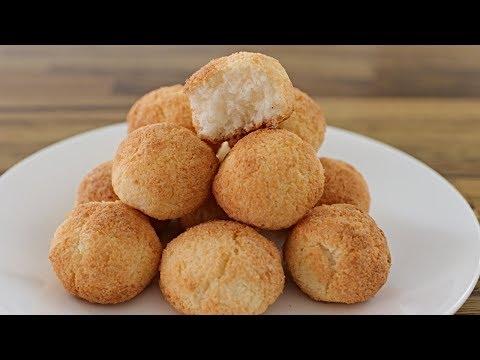 3-Ingredient Coconut Cookies Recipe