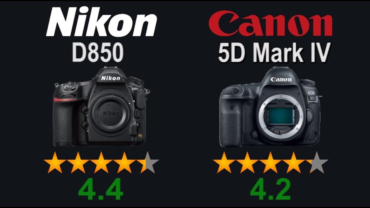 Rating Of Cameras Nikon D850 Vs Canon EOS 5D Mark IV